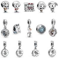 Оригинальные браслеты и браслеты Pandora, в виде персонажей мультфильма «Холодное сердце» из мультфильма «Холодное сердце», «Эльза и нокк», на...