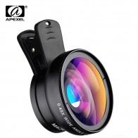 APEXEL телефон объектив Комплект 0.45x Супер широкоугольный и 12.5x Супер Макро объектив HD камера Lentes для iphone 6S 7 Xiaomi больше мобильного телефонакупить в магазине APEXEL Official StoreнаAliExpress