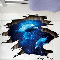 300.15 руб. 8% СКИДКА|3D темно синяя мечта Дельфин пол стикер Ванная комната гостиная пол украшения настенные наклейки для домашнего декора обои-in Настенные наклейки from Дом и сад on Aliexpress.com | Alibaba Group