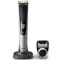 Электро бритва-триммер с насадкой с 14 установками Philips QP6520/25 Oneblade Pro Hybrid Trimmer and Shaver with 14-Length Comb