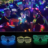 US $3.42 39% OFF|LED Glasses Glowing Halloween Luminous Neon Christmas Party Bril Flashing Light Glow Okulary Glass Festival Supplies Clothing DJ-in Glow Party Supplies from Home & Garden on Aliexpress.com | Alibaba Group