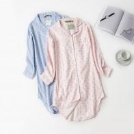 882.28 руб. 38% СКИДКА|Женские ночные рубашки в полоску, ночные рубашки в горошек, ночная рубашка, ночные рубашки, хлопковые пижамы, ночные рубашки-in Ночные рубашки и сорочки from Нижнее белье и пижамы on Aliexpress.com | Alibaba Group