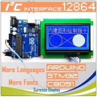 64.74 руб. |93X70 мм графическая матрица I2C IIC 12864 128*64 ЖК дисплей модуль Экран дисплея для Arduino корпус из АБС пластика 5,0 V/3,3 V Встроенный GB2312 ASCII шрифт-in ЖК-модули from Электронные компоненты и принадлежности on Aliexpress.com | Alibaba Group