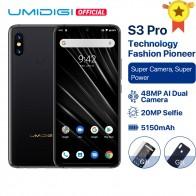 18308.69 руб. 30% СКИДКА|UMIDIGI S3 PRO Android 9,0 48MP + 12MP + 20MP супер камера 5150 мАч большая мощность 128 ГБ 6 ГБ 6,3