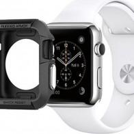 Чехол для смарт-часов Spigen Rugged Armor для Apple Watch 3/2/1 (42 мм), черный — купить в интернет-магазине OZON с быстрой доставкой