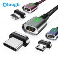 79.06 руб. 25% СКИДКА|Elough Магнитный зарядный кабель для iphone xs Кабель с разъемом микро USB типа C для samsung s9 note9 Магнитный кабель USB C QC3.0fast chargin купить на AliExpress