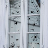 Halloween Spider Print Wall Sticker