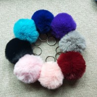 US $0.5 |8CM 13 Colors Fluffy Rabbit Fur Ball Key Chain Cute Cream Black Pompom Artificial Rabbit Fur Keychain Women Car Bag Key Ring-in Key Chains from Jewelry & Accessories on Aliexpress.com | Alibaba Group
