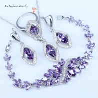 US $8.57 42% OFF|L&B Best Birthday Gift CZ Elegant Design Austria Crystal Stone Purple 4 Piece 925 Sterling Silver Jewelry Sets For Women -in Bridal Jewelry Sets from Jewelry & Accessories on Aliexpress.com | Alibaba Group