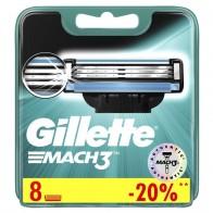Сменные кассеты Mach3 , 8 шт, GILLETTE