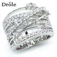 135.62 руб. 44% СКИДКА|Новое поступление серебряное розовое золото циркон камень кольца для женщин модные украшения обручение обручальное кольцо купить на AliExpress