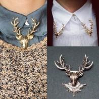 LNRRABC модные золотистые и бронзовые рога оленя, булавки и броши для шарфа, футболки, нагрудные значки Броши para as multiheres Bijoux - Аксессуары до 300 руб