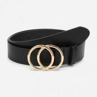 Cinturón con hebilla de doble círculo