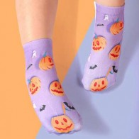 Girls Halloween Pumpkin Pattern Socks