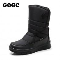 GOGC Теплая мужская зимняя обувь Брендовая Нескользящая зимняя обувь для мужчин Высокое качество зимние сапоги мужские теплые зимние сапоги обувь мужская 9635 купить на AliExpress