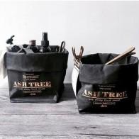 Большая сумка для хранения в скандинавском стиле, водонепроницаемые крафт-пакеты, органайзер для одежды, бумажный мешок для белья, моющиеся... - Корзины для белья