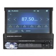 7بوصة1الدينسيارةستيريو راديو السيارات MP5 MP4 مشغل MP3 DVD قابل للسحب بلوتوث لمس شاشة USB AUX FM الدعم الرؤية الخلفية الة تصوير