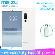 14128.73 руб. |Оригинальная глобальная версия Meizu 15 4 GB 64 GB мобильный телефон Snapdragon 660 Octa Core 5,46