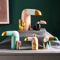 Скандинавский современный домашний декор, аксессуары для дома, домашний декор, фигурки животных из смолы, декор для настольной комнаты, дер... - Фигурки для декора в сканди-стиле