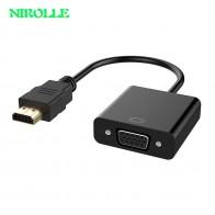 189.33 руб. 30% СКИДКА|NIROLLE адаптер hdmi vga цифро аналоговый видео аудио кабель конвертера HDMI VGA разъем для Xbox 360 PS4 портативных ПК ТВ коробка купить на AliExpress