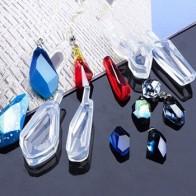 Алмазная подвеска для изготовления своими руками, 4 шт., прозрачные, УФ-смолы, эпоксидные, силиконовые комбинированные формы для самостоятел... - Форма для эпоксидной смолы