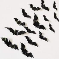 16шт Хэллоуин 3D стикер стены летучей мыши