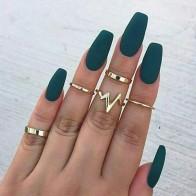 27.95 руб. 55% СКИДКА|2018 новые модные популярные ЭКГ женские кольца 5 шт. набор кольцо оптовая продажа женские свадебные кольца для купить на AliExpress