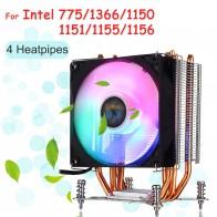 1179.0 руб. 45% СКИДКА|4 Heatpipe cpu Радиатор радиатора + 90 мм вентилятор охлаждения RGB светодиодный вентилятор кулер для Intel LGA 775/1150/1151/1155/1156/1366-in Вентиляторы и охлаждение from Компьютер и офис on Aliexpress.com | Alibaba Group