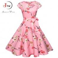 665.71 руб. 41% СКИДКА|Женское летнее платье с цветочным принтом 50 s винтажное повседневное элегантное платье с круглым вырезом Вечерние принтом для вечеринки офисное платье ретро рокабилли Vestidos купить на AliExpress