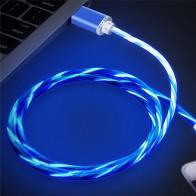 120.12 руб. |Светодио дный Micro USB кабель Красочные толстых металлических 1 м свечения Microusb кабель для зарядки и синхронизации для samsung для htc для Android Xiomi S2 купить на AliExpress