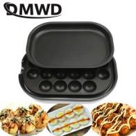 DMWD антипригарное мини-устройство для приготовления такояки жареное перепелиное яйцо духовка барбекю гриль сковорода для стейка электриче...