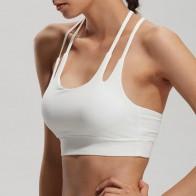 Сексуальная плечевой ремень спортивный бюстгальтер спортивная одежда без косточек уменьшить грудь вибрации удобные дышащие yoga Бег бюстгальтеры купить на AliExpress