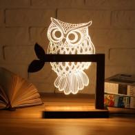 Деревянный USB светодио дный LED животных Бабочка Сова ночник теплый освещение настольные лампы для чтения спальня домашний Декор подарок на день рождения купить на AliExpress