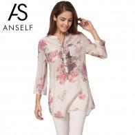 620.13 руб. 43% СКИДКА|ANSELF 5XL осень для женщин Винтаж Цветочный принт блузка элегантный 3/4 рукав плюс размеры повседневное блузки для малышек длинная рубашк-in Блузки и рубашки from Женская одежда on Aliexpress.com | Alibaba Group