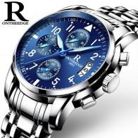 Лидер продаж! Топ Элитный бренд Для мужчин часы хронограф Для мужчин спортивные часы Водонепроницаемый однотонное Сталь Для мужчин кварцевые часы Relogio Masculino купить на AliExpress