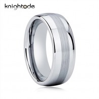 US $8.41 39% OFF|8mm High Quality Tungsten Wedding Rings For Men Women Fashion Ring Dome Shape Brushed And Polished Finish-in Wedding Bands from Jewelry & Accessories on Aliexpress.com | Alibaba Group