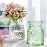 Алмазная разноцветная ромбовидная стеклянная ваза для свадебного украшения дома аксессуары современные цветочные вазы для домашнего укра...