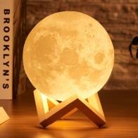 700.67руб. 40% СКИДКА|Rambery moon лампа с 3d принтом, Ночной светильник, перезаряжаемый, 3 цвета, с управлением, светильник s, 16 цветов, сменный, дистанционный, светодиодный, лунный светильник, подарок-in Ночники from Лампы и освещение on AliExpress