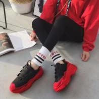 1560.88 руб. 49% СКИДКА|Сетчатые женские кроссовки на высокой платформе 2018 Модные женские красные черные туфли для папы женская повседневная обувь на массивном каблуке Женская обувь chaussures femme-in Женская вулканизированная обувь from Туфли on Aliexpress.com | Alibaba Group
