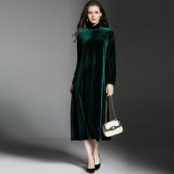 1838.18 руб. |Новинка 2019, зимнее женское длинное вельветовое платье с длинными рукавами и высоким воротником, большие размеры 5XL 6XL 7XL, Осенние вечерние платья Vestidos-in Платья from Женская одежда on Aliexpress.com | Alibaba Group