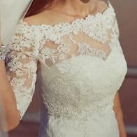 US $27.66 9% OFF|New Off Shoulder Lace Bolero Wedding Evening Jacket Half Sleeves White/Ivory Bridal Wedding Shawls Custom Made-in Wedding Jackets / Wrap from Weddings & Events on Aliexpress.com | Alibaba Group