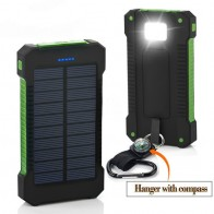 729.21 руб. 76% СКИДКА|Топ солнечной Мощность Bank 30000 мАч Солнечный Зарядное устройство Внешняя батарея Зарядное устройство Водонепроницаемый Солнечный Мощность банка для смартфонов с светодио дный свет купить на AliExpress