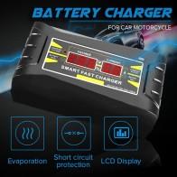 818.33 руб. 7% СКИДКА|Полностью автоматическое автомобильное зарядное устройство 110 V/220 V до 12 V 6A зарядное устройство цифровой дисплей Автоматическая умная Быстрая зарядка для автомобильного мотоцикла on Aliexpress.com | Alibaba Group