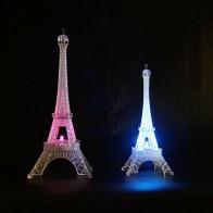 Luz LED colorida de noche para dormitorio, Decoración LED para el hogar, Torre Eiffel romántica