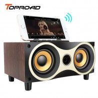 US $24.52 56% OFF|TOPROAD Portable Wooden Wireless Speaker Subwoofer Stero Bluetooth Speakers Radio FM Desktop caixa de som for iPhone Android-in Portable Speakers from Consumer Electronics on Aliexpress.com | Alibaba Group