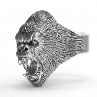 259.13 руб. |Мужское кольцо из титановой стали Винтажное кольцо гориллы-in Кольца from Украшения и аксессуары on Aliexpress.com | Alibaba Group