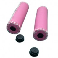 Pair Vintage leather bicycle Grips Grips trekking handlebars Cover Colour: Pink