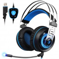 € 25.26 |SADES A7 USB 7,1 sonido estéreo con cable de juego de iluminación Led azul auriculares con micrófono para PC portátil juego-in Auriculares y cascos from Productos electrónicos on Aliexpress.com | Alibaba Group