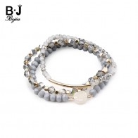 US $4.61 20% OFF|BOJIU 3 Pcs/Set Trendy Bracelets For Women Crystal White Quartz Gold Tube Tiny Beads Copper Nuggets Bracelet Jewelry BCSET179-in Strand Bracelets from Jewelry & Accessories on Aliexpress.com | Alibaba Group