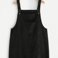 Vestido de tira con bolsillo delantero-grande